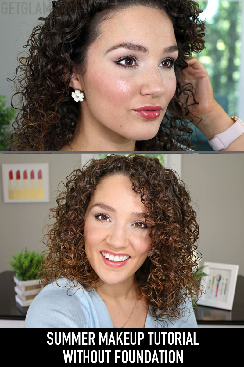 Video Full Face Drugstore Makeup Without Foundation Summer Tutorial Gena Marie